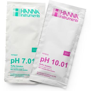 pH 7.01 and 10.01 Calibration Buffer Sachets (10 x 20mL, 5 Each)