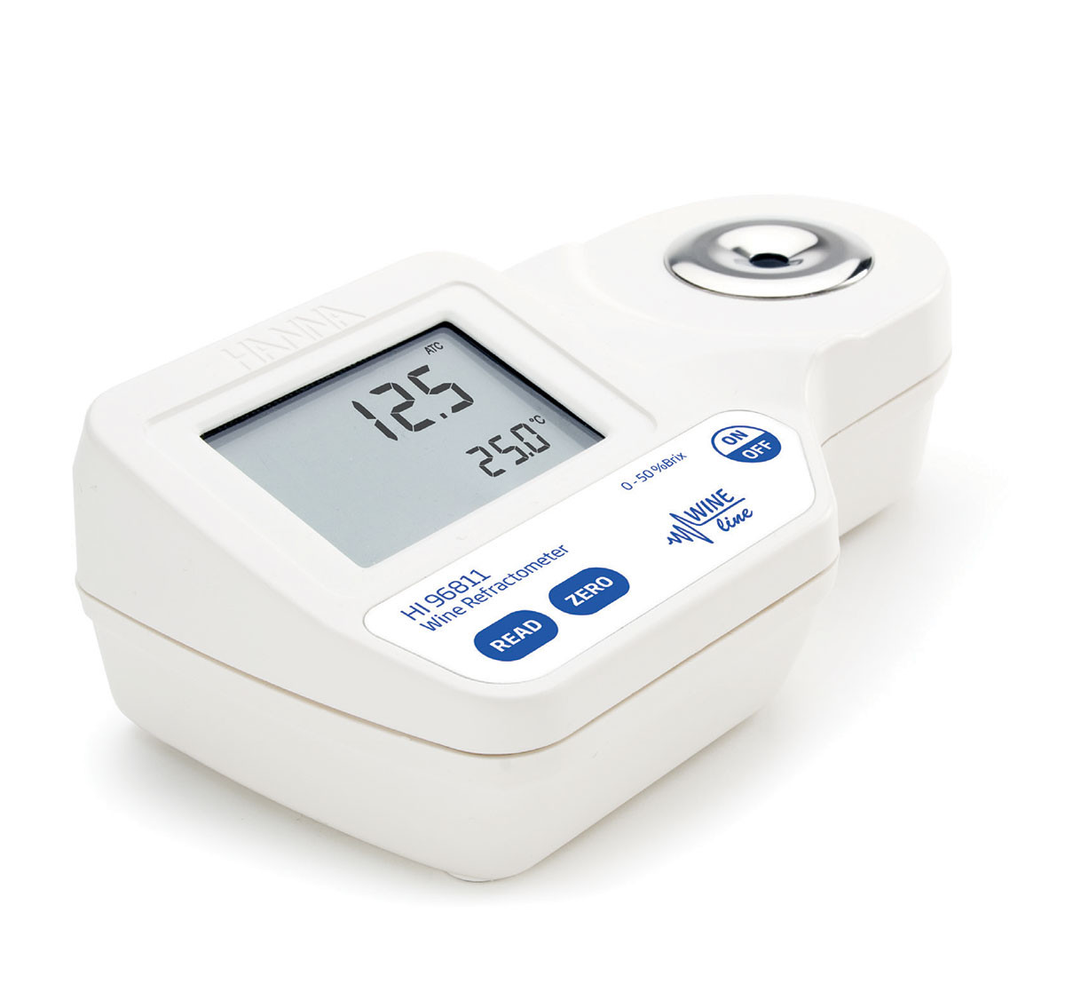 Digital Refractometer for Sugar (% Brix) Analysis in Must and Juice