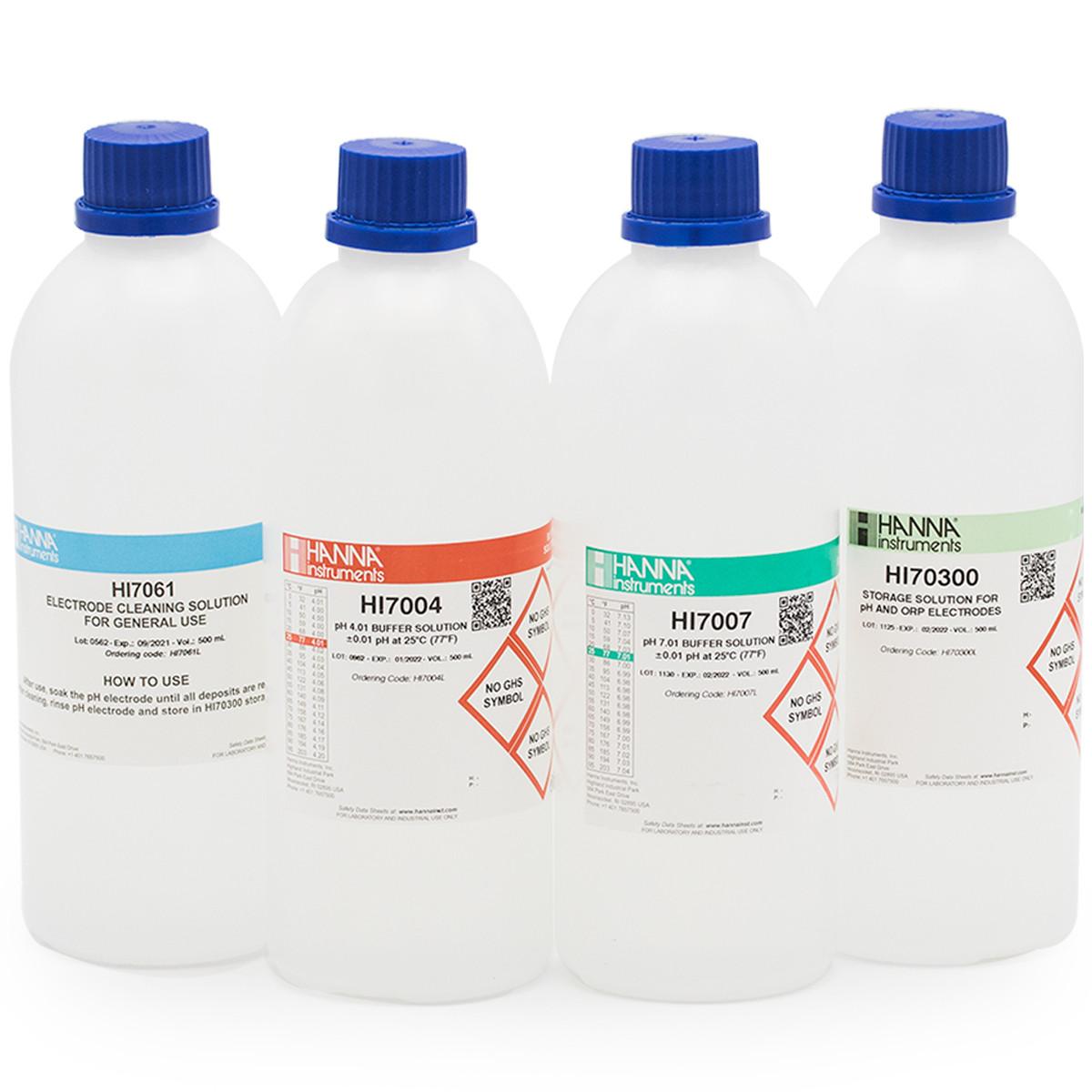 General pH Calibration Bundle, pH 4 & 7 (Bottles)
