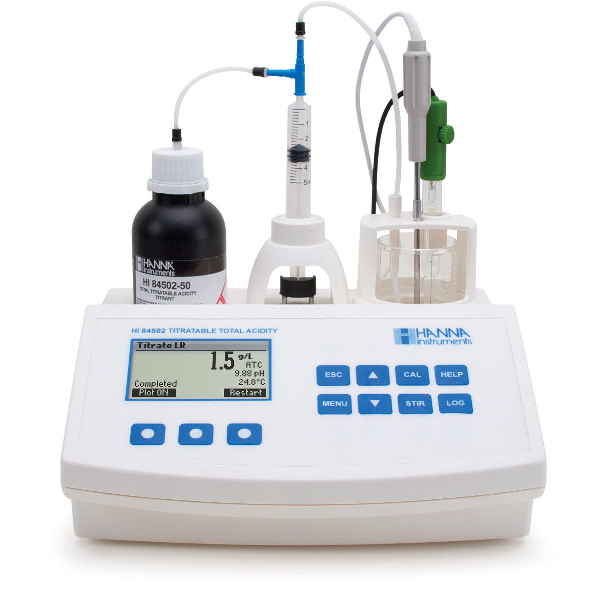 Titratable Acidity Mini Titrator for Wine