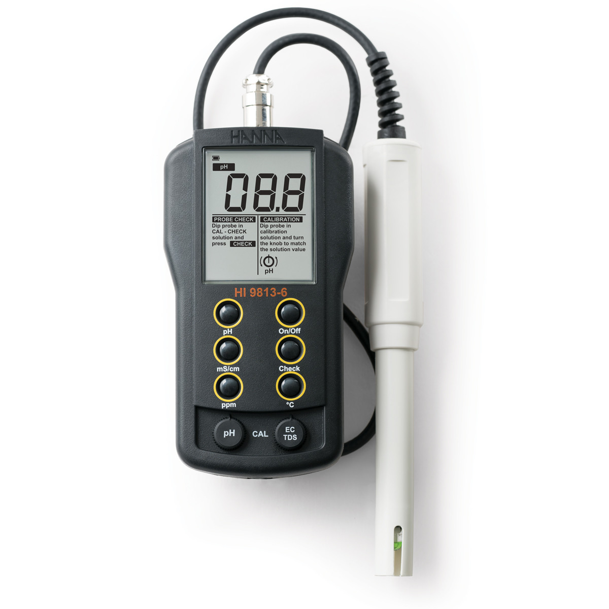 Portable pH/EC/TDS/Temperature Meter with CAL Check™