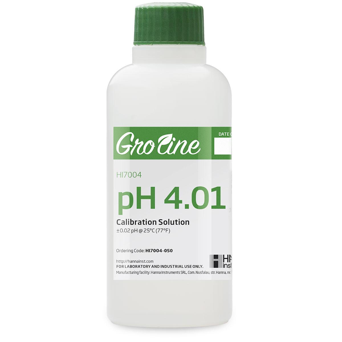 GroLine pH 4.01 Calibration Buffer (500 mL)