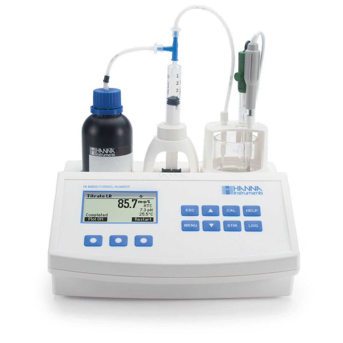 Mini Titrator for Measuring Formol Number in Wine and Fruit Juice