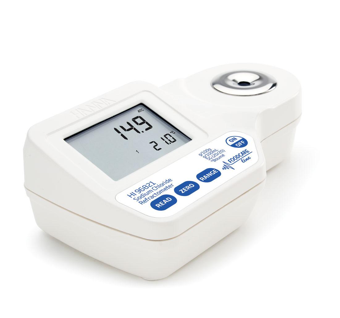 Digital Refractometer for Measuring Sodium Chloride in Food