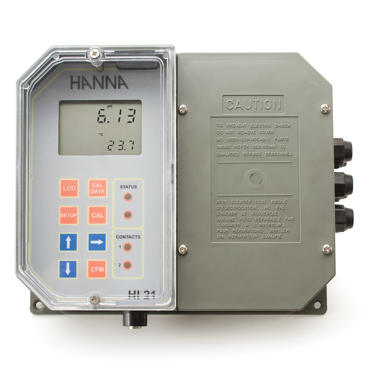Wall Mounted pH Digital Controller with Dual Setpoint and Matching Pin