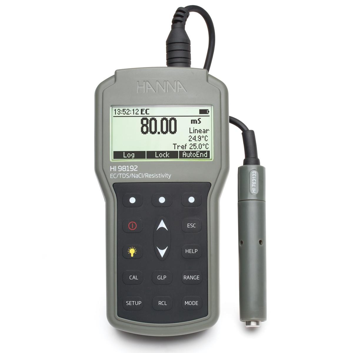 Waterproof Portable EC/TDS/Resistivity/Salinity Meter