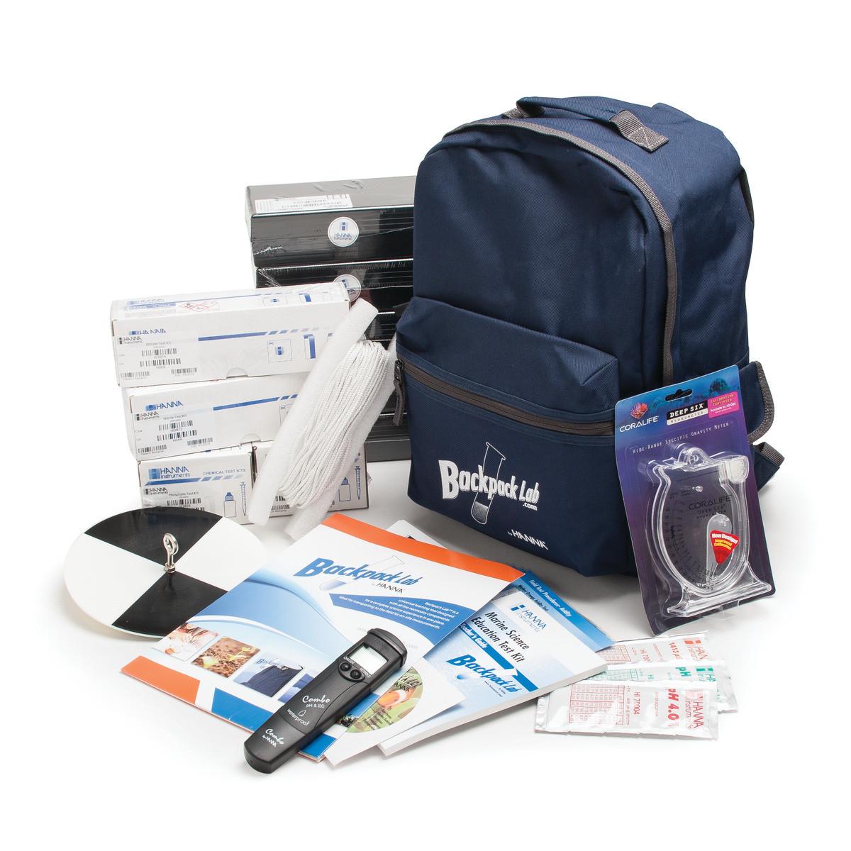 Backpack Lab Marine Science Educational Test Kit