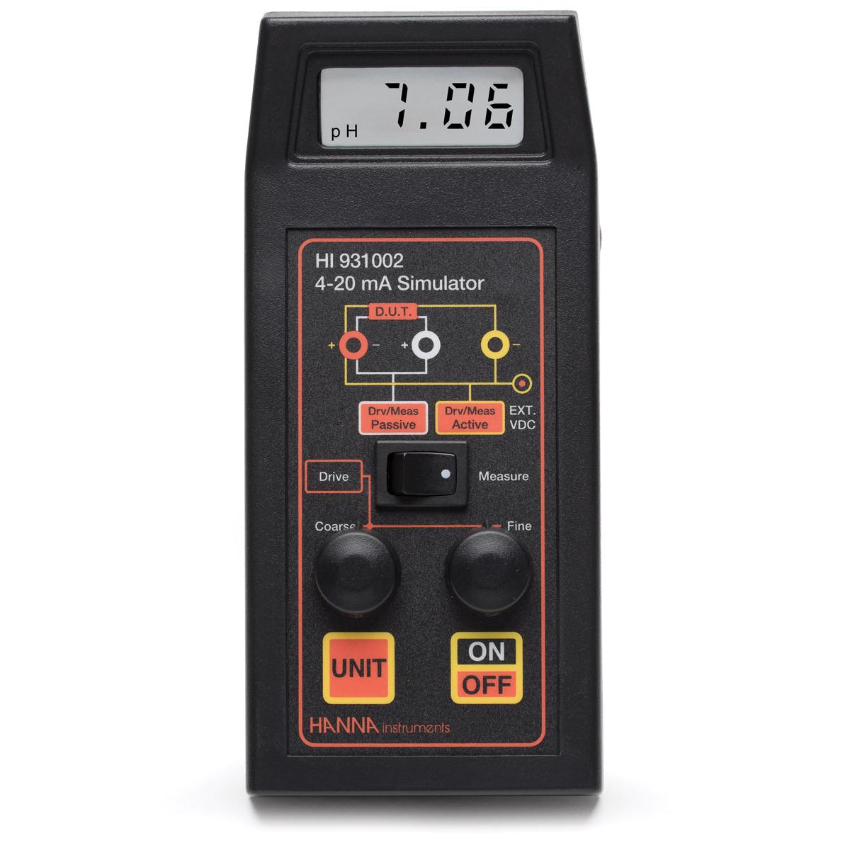 4-20 mA Amperometer Simulator and Calibrator