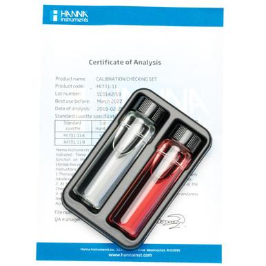 Marine pH Checker Calibration Check Set