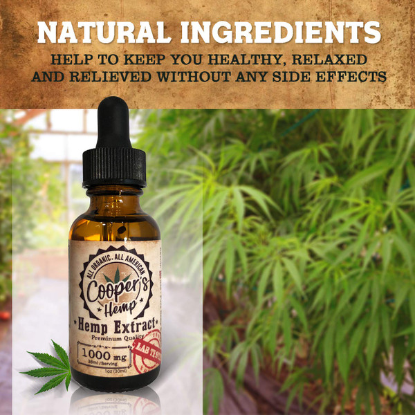 Cooper's Full Spectrum CBD Oil Tincture 1000MG