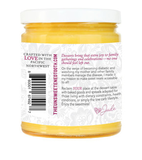 Peach Fruit Curd About Label