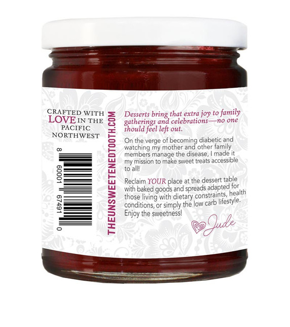 Blackberry Fruit Curd About Label