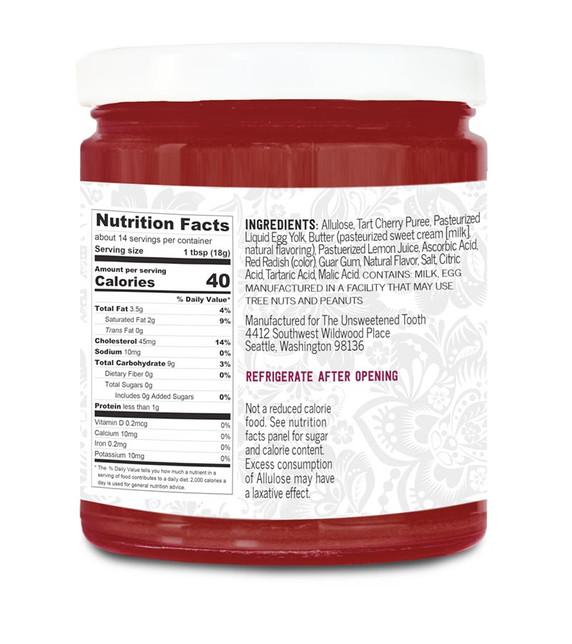 Sour Cherry Fruit Curd Ingredient Label