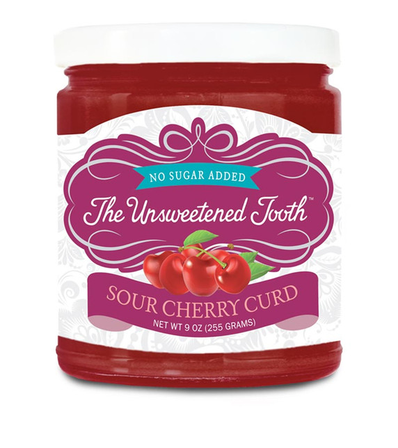 No Sugar Added Sour Cherry Fruit Curd