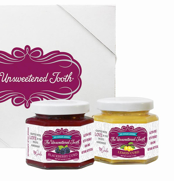 Four Fruit Curd 4oz Gift Box Right Side Jars