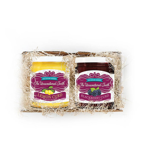 No Sugar Added Traditional English Fruit Curds in gift box