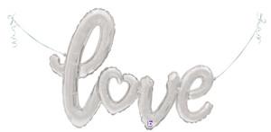 """47"""" Love Script  Silver - AIR FILL"""