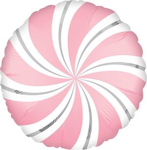 "18"" Satin Pink Candy Swirl"