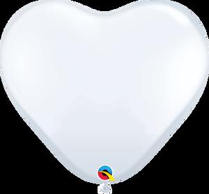 """36"""" White Heart Latex 2ct"""
