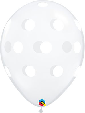 "11"" Qualatex Big Polka Dots - 50 Ct."