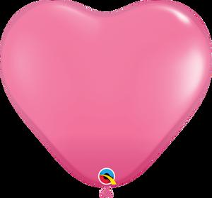 """36"""" Rose Heart Latex 2ct"""