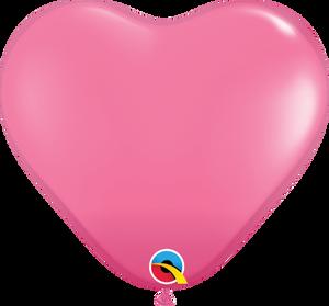 "6"" Qualatex Rose Hearts - 100 Ct."
