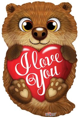 "18"" I Love You Otter"