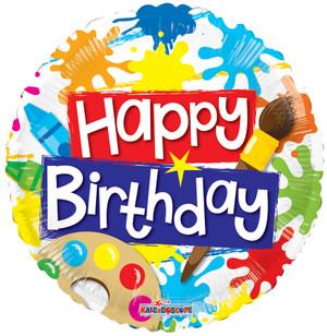 """18"""" Birthday Paint Spots Gellibean"""