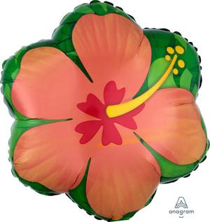 """18"""" Orange Hibiscus"""