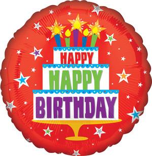 "18"" Red Birthday Cake"