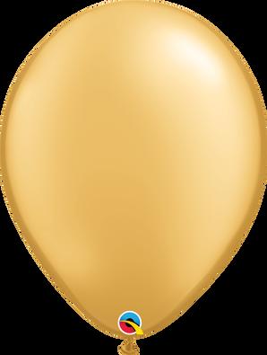 "16"" Qualatex Metallic Gold - 50 Ct."