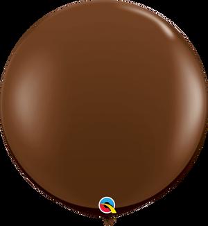 "36"" Chocolate Brown Latex Balloons 2 ct"