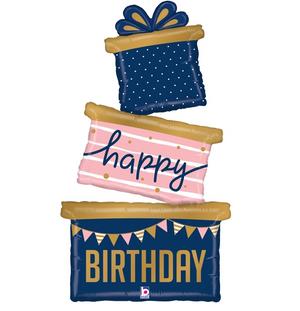 """51"""" Navy Birthday Gift Trio"""