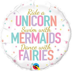"""18"""" Unicorn, Mermaids, Fairies"""