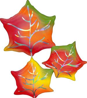 "30"" Iridescent Leaves - Flat"