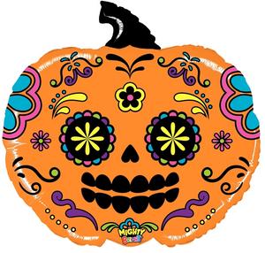 """28"""" Mighty Pumpkin Sugar Skull"""