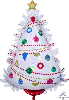 """36"""" Iridescent Christmas Tree"""