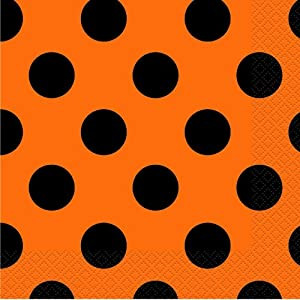 "11"" Polka Dots Orange with Black Ink 50 Ct."