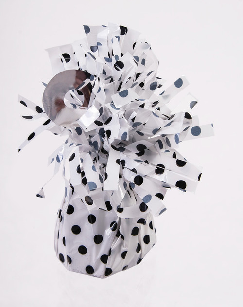 White with Black Polka-dots Balloon Weight