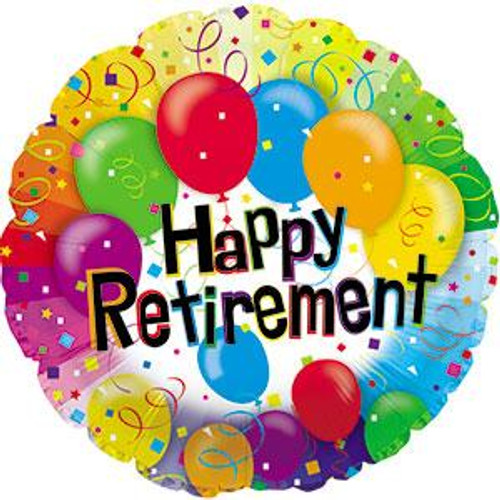 "18"" Happy Retirement Balloons"