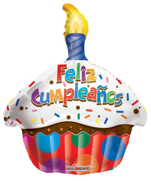 "18"" Feliz Cumpleanos Cupcake"