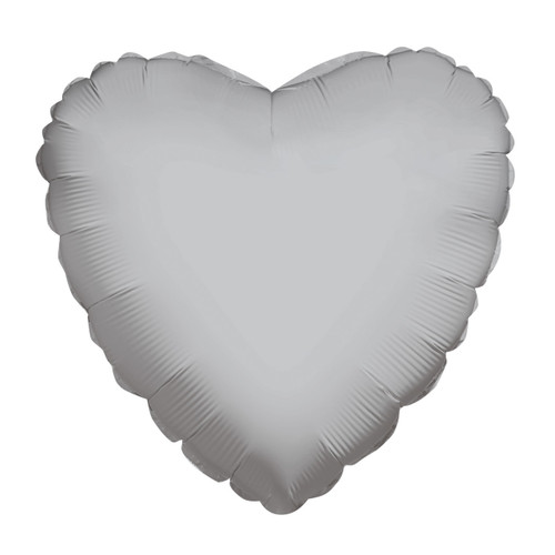 """18"""" Solid Silver Heart"""