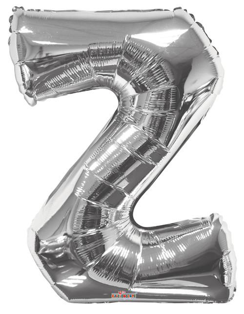 """34"""" Silver Letter """"Z"""""""