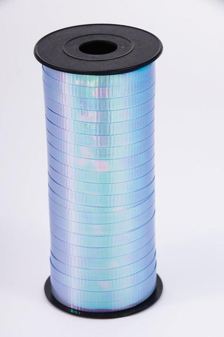 Iridescent Blue Curling Ribbon