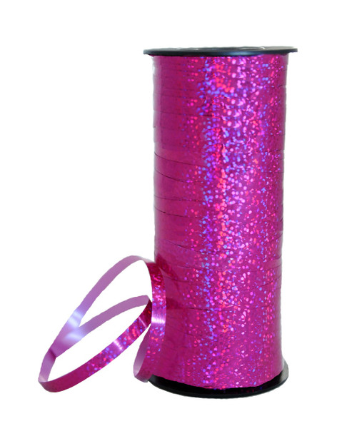 Holographic Fuchsia Curling Ribbon