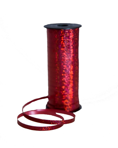 Holographic Red Curling Ribbon