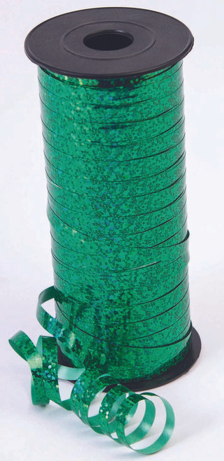 Holographic Green Curling Ribbon