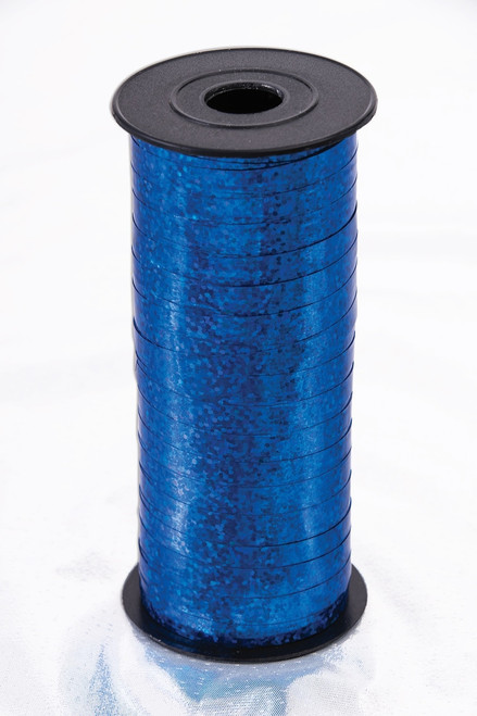 Holographic Royal Blue Curling Ribbon