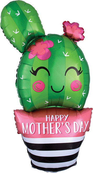 "35"" Happy Mother's Day Cactus Shape"
