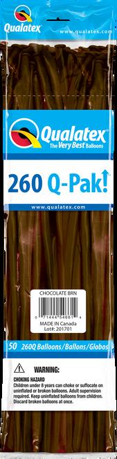 260Q Qualatex QPAK Chocolate Brown - 50 Ct.